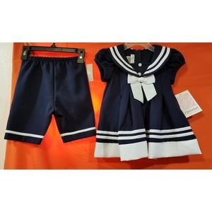 Blue and White Size 18 Months 2pc. dress set